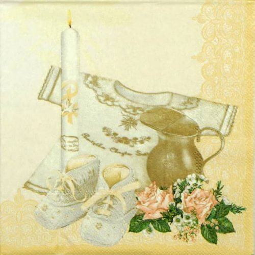 Paper Napkin - Christening Cream