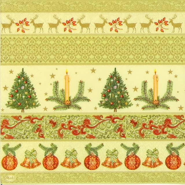 Lunch Napkins (20) - Christmas Ornaments
