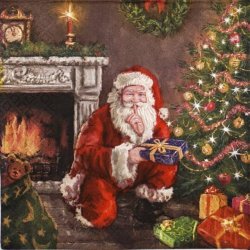 Lunch Napkins (20) - Santa's Secret Visit