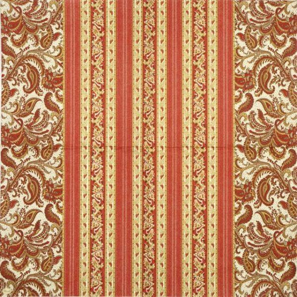 Paper Napkin - Red Wallpaper Pattern