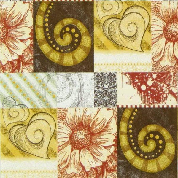 Paper Napkin - Fossil Ornaments