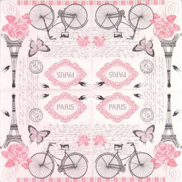 Lunch Napkins (20) - Parisian Bicycle