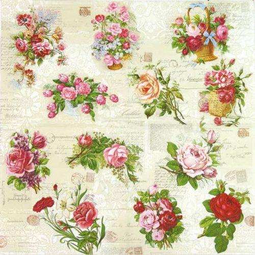 Paper Napkin - English Roses