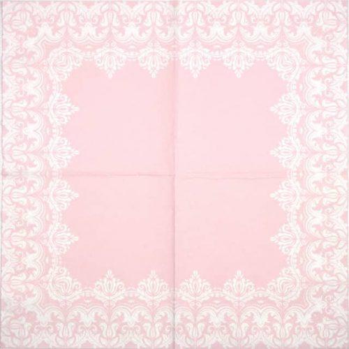 Lunch Napkins (20) - Ornament Border Pink