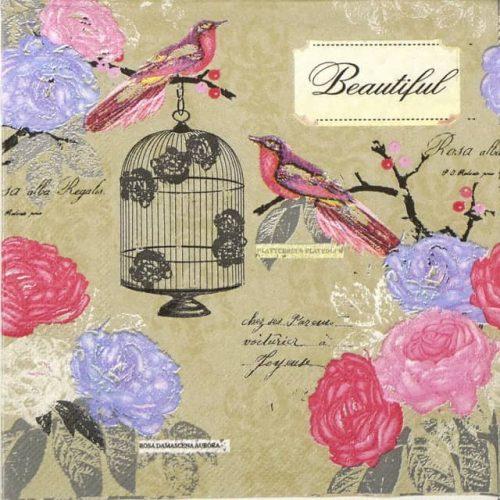 Paper Napkin - Birdcage in Romantic Garden
