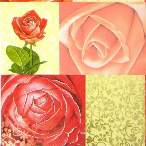 Paper Napkin - Red Roses