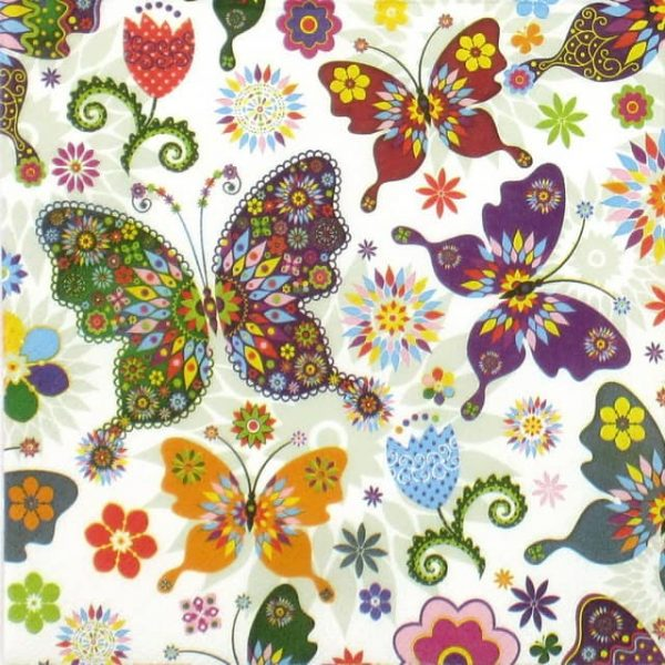 Lunch Napkins (20) - Colorful Butterfly