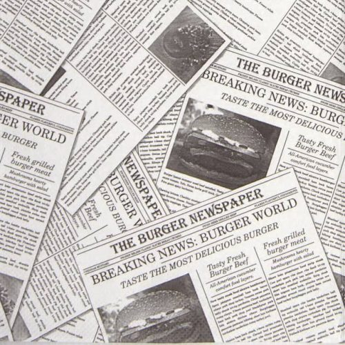 Paper Napkin - Newspaper Grey
