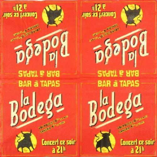 Paper Napkin - Retro Style Pub Bodega