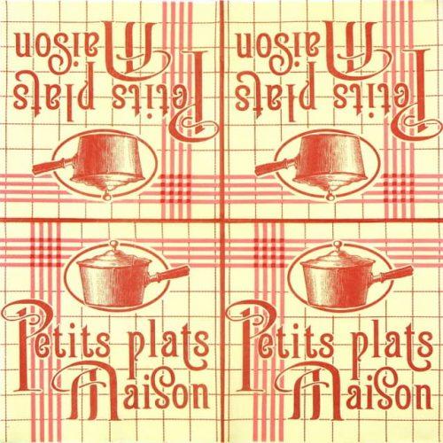 Paper Napkin - Retro Style Homemade Food