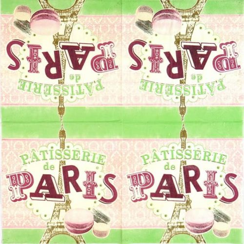 Paper Napkin - Retro Style Paris Macarons