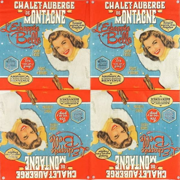 Lunch Napkins (20) - Retro Style Lady Belle