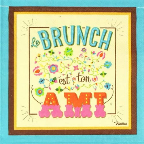 Lunch Napkins (20) - Retro Style Ami Le Brunch