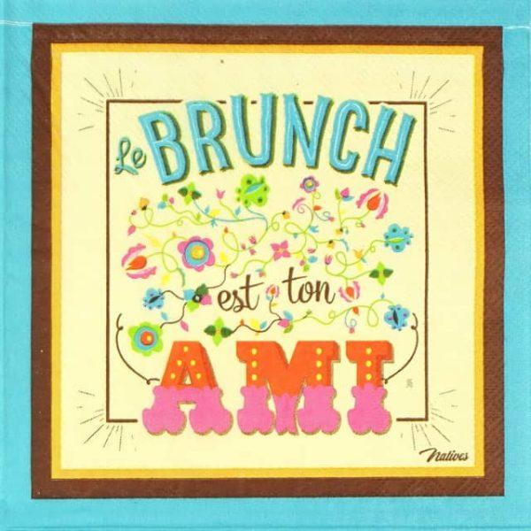 Lunch Napkins (20) - Retro Style Ami Le Brunch