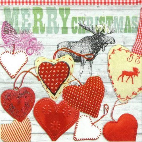 Paper Napkin - X-mas Hearts