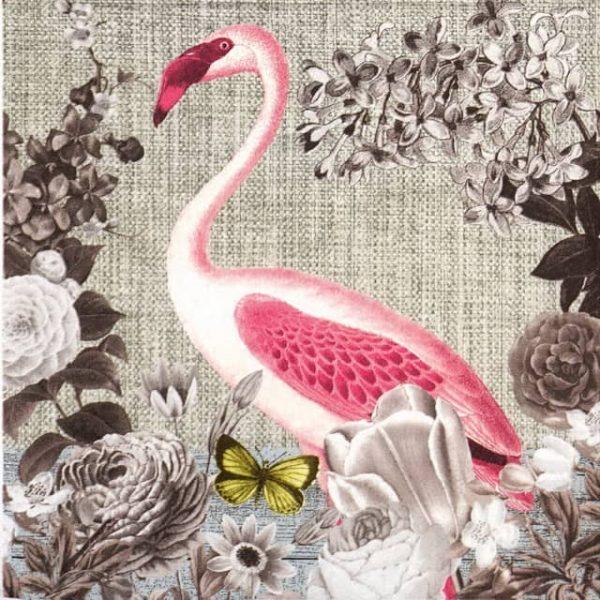 Paper Napkin - Flamingo Sepia