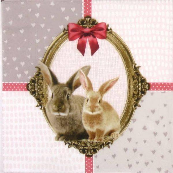Paper Napkin - Bunny Friends