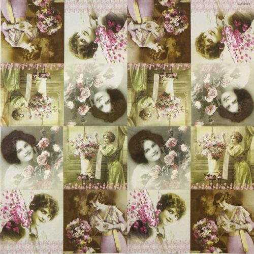 Paper Napkin - La Vie En Rose