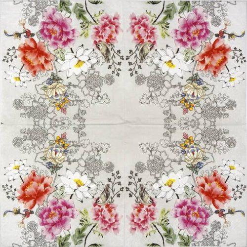 Paper Napkin - Flower Silhouette