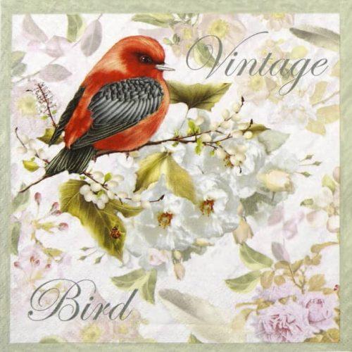 Paper Napkin - Vintage Bird