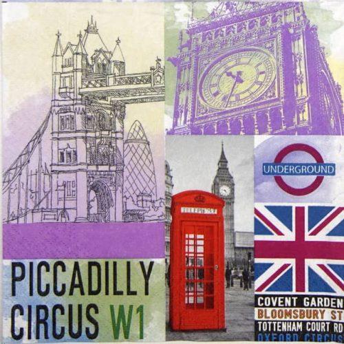 Paper Napkin - London City Life
