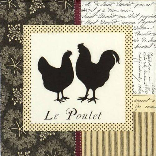 Paper Napkin - Le Poulet