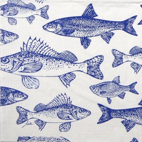 Paper Napkin - Krause: Graphic Fishes marine