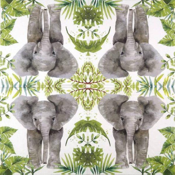 Lunch Napkins (20) - Carola Pabst: Tropical Elephant