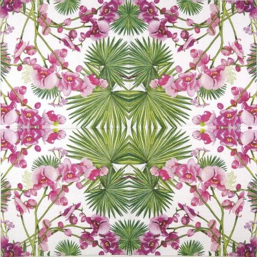 Paper Napkin - Orchids & Palms
