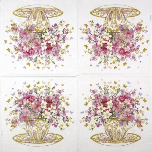 Paper Napkin - Nigel Quiney: Tea Cup Blossoms