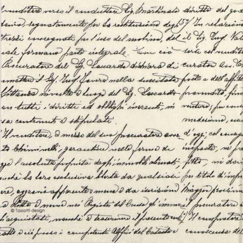 Paper Napkin - Tassotti: Scrittura