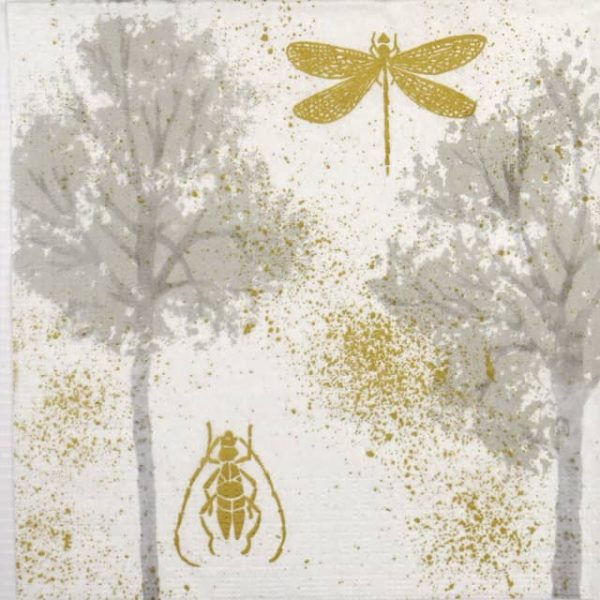 Lunch Napkins (20) - Dominique Tage: Forest fantasy gold