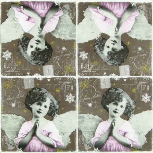 Paper Napkin - Praying Angel Dark