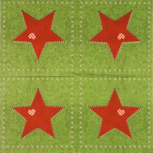 Paper Napkin - Ute Krause: Felt Star Green