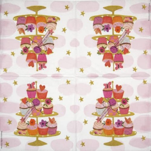 Paper Napkin - Carson Higham: Happy Cupcakes