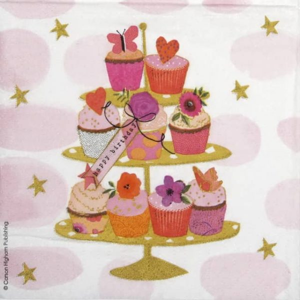 Paper Napkin - Carson Higham: Happy Cupcakes