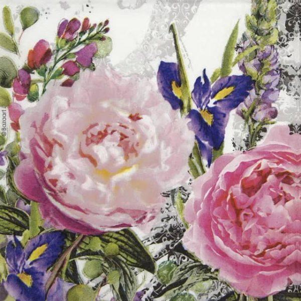 Cocktail Napkins (20) - Bazart: Jardin des Roses