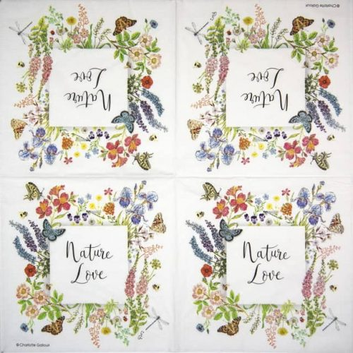 Paper Napkin - Charlotte Galloux: Nature Love