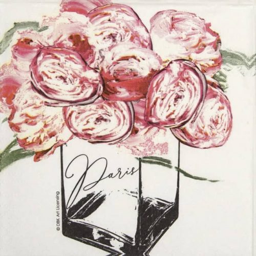 Cocktail Napkins (20) - DBK Art: Paris Peonies