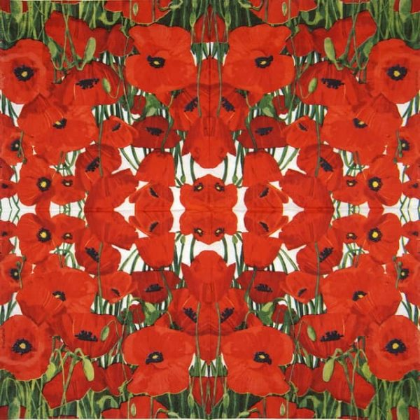Paper Napkin - Two Can Art: Red Poppies