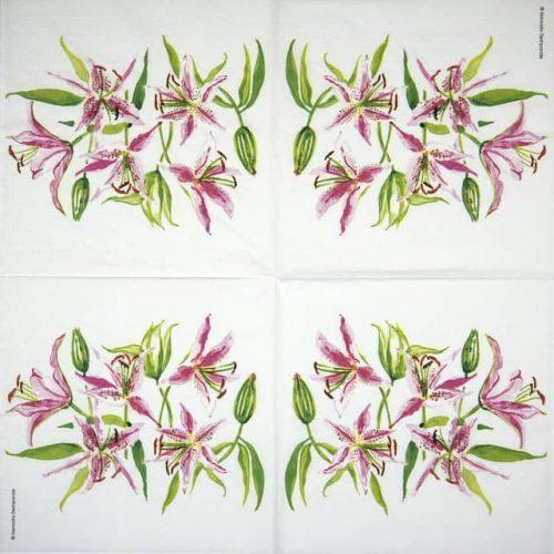 Paper Napkin - Namrata Deshpande: Strgazer Lilies