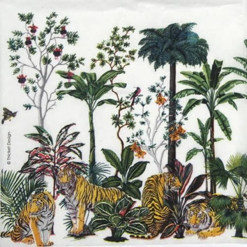 Lunch Napkins (20) - Thicket Design: Tiger Summer