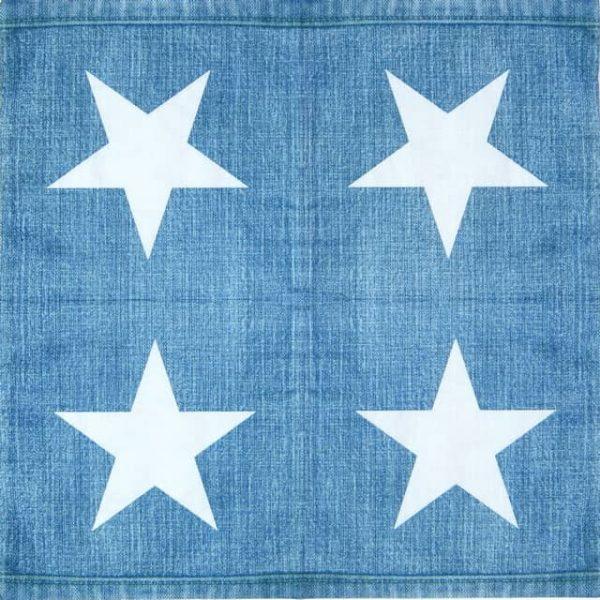 Paper Napkin - Jeans Star