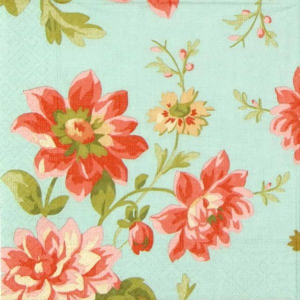 Lunch Napkins (20) - Painted Dahlias