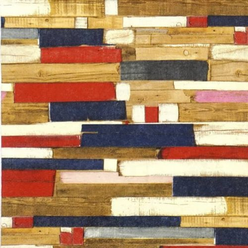 Paper Napkin - Colourful planks