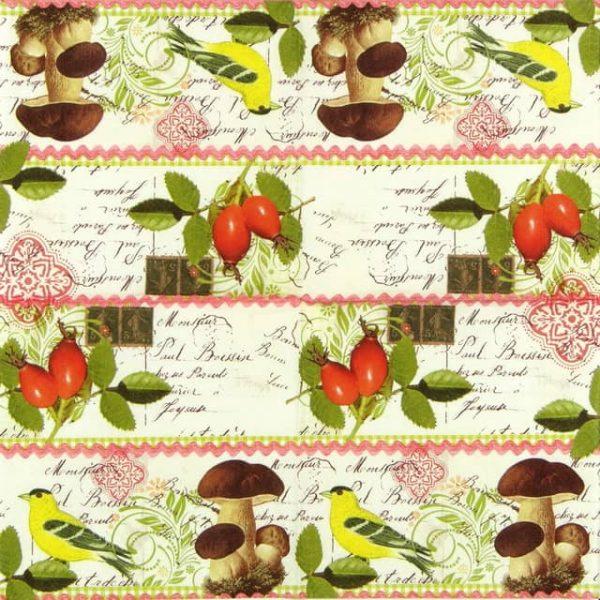 Lunch Napkins (20) - Botanical Postcard