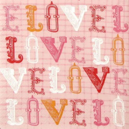 Paper Napkin - Love, Love, Love