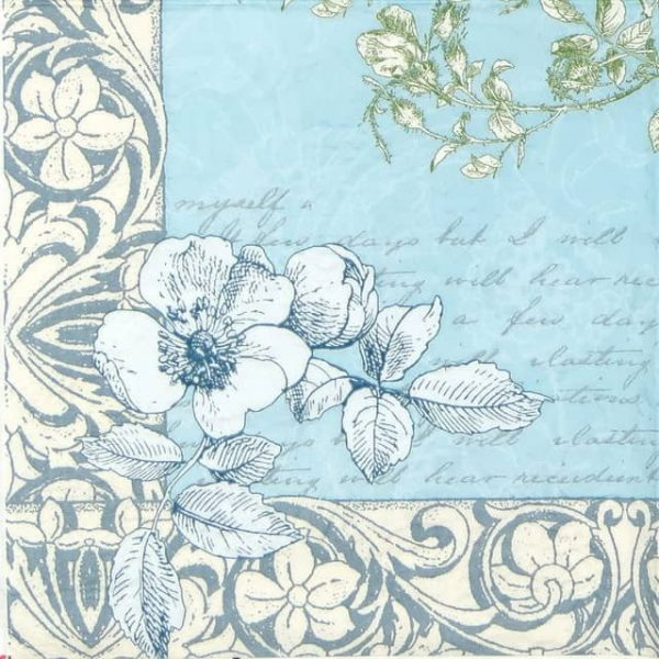 Paper Napkin - Romantic Border
