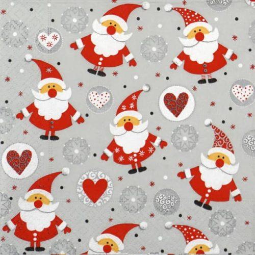 Cocktail Napkin - Funny Santas