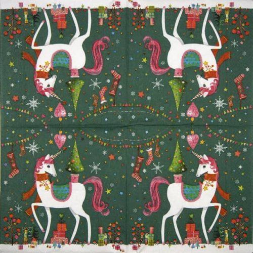 Paper Napkin - X-mas Unicorn
